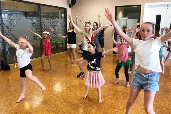 Jitterbugs Dance Lessons kids in dance studio