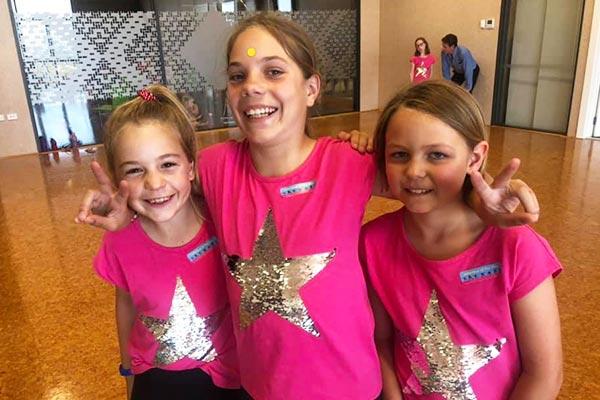 Jitterbugs dance lessons girls having fun