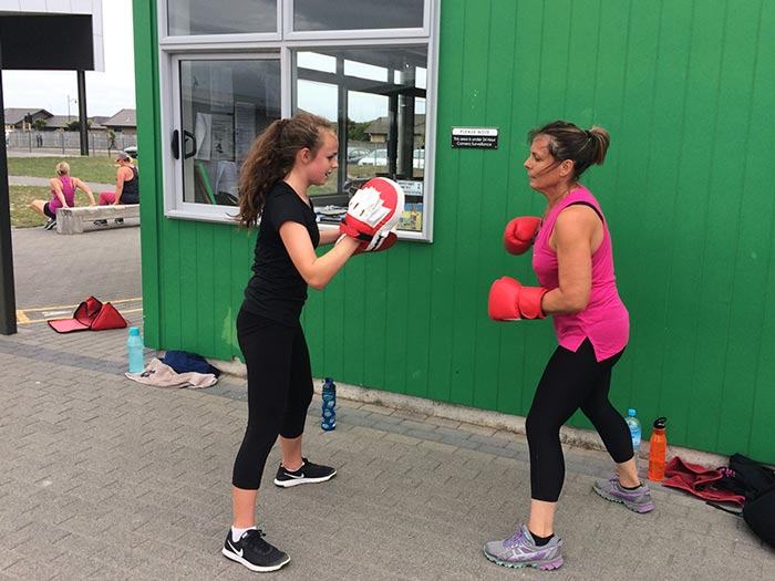 JitterFit Excercise Classes boxing